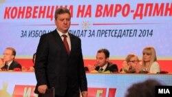 Ѓорге Иванов, претседател на Македонија и кандидат за втор мандат.