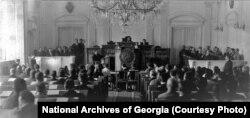 1919 წლის 12 მარტს გაიხსნა საქართველოს დემოკრატიული რესპუბლიკის დამფუძნებელი კრების პირველი სხდომა.