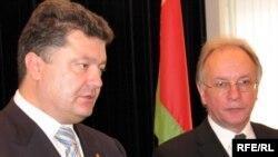 Пётар Парашэнка і Сяргей Мартынаў