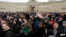 Sankt-Peterburgta qabarcılıqqa qarşı miting, 26 mart 2017 senesi