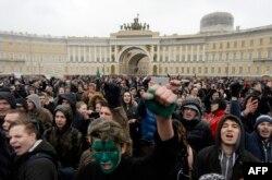 Акция протеста в Санкт-Петербурге