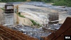 Градежни активности на автопатот Кичево - Охрид (архивска фотографија)