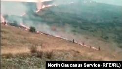 Пожары в Дагестане