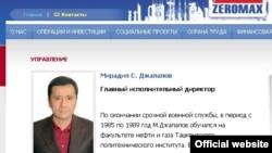 """""""Zeromaks""""ning hamon ochiq qolayotgan rasmiy saytida Mirodil Jalolov boshliq maqomini """"saqlab qolgan."""""""