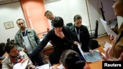 Халық санағын өткізушілердің бір тобы. Сребреница, 1 қазан 2013 жыл.