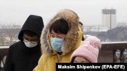 Китайские туристы в Москве.