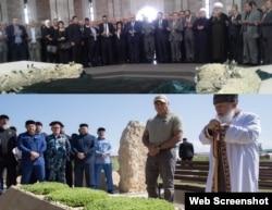 Могилы Хафеза Асада в Кардахе и Ахмата Кадырова в Центарое