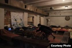 Бомбосховище в Донецьку. Листопад 2014 року