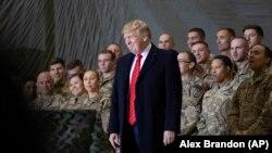 Дональд Трамп на военной базе в Баграме, Афганистан. 28 ноября 2019 года.