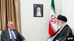 Iranian supreme leader Ayatollah Ali Khamenei (R) meets with Iraqi Prime Minister Haider al-Abadi in Tehran, June 20, 2017