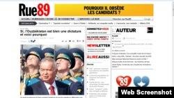 "Rue89 Интернет нашри Лола Каримованинг шикоятига жавобан президент Каримовни яна ""диктатор"", дея атади."