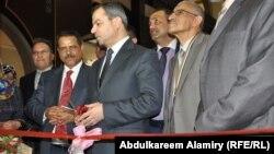 وزير التخطيط ووزير المالية وكالة علي الشكري يفتتح فرع مصرف الرشيد في فندق البصرة الدولي.