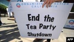 Сторонник реформы медицинского страхования в Каклифорнии протестует против действий консерваторов
