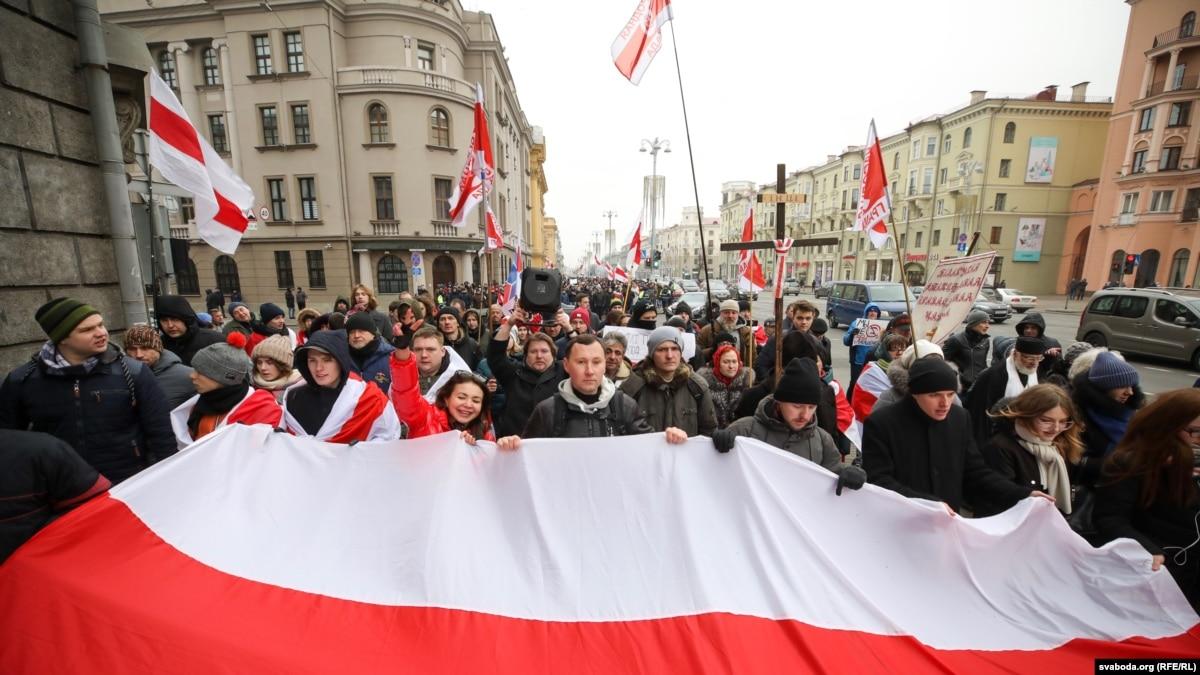 В Минске протестуют против интеграции с Россией. Лукашенко - на переговорах с Путиным
