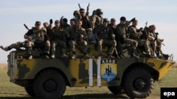 "Бойцы батальона ""Азов"" на учениях"