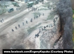 Фрагмент діорами «Табір смерті у Богданівці». Фото зі сторінки майстра у фейсбуці