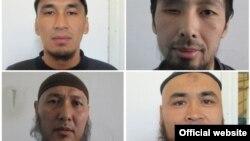 """Қырғызстан түрмесінен қашқан """"терроршылардың"""" кейбірінің суреті."""