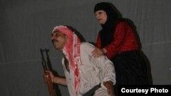 """مشهد من مسرحية"""" حجام البريس"""""""