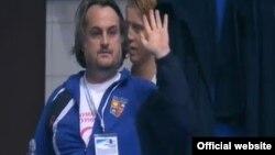 Сашо Поповски, селектор на македонската ватерполо репрезентација.