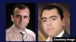 خسرو (چپ) و مسعود کردپور