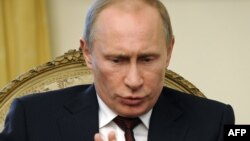 Russian Prime Minister Vladimir Putin during his Ljubljana visit on March 22