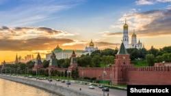 Pamje e Kremlinit në Moskë