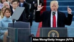 ԱՄՆ 45-րդ նախագահ Դոնալդ Թրամփը ելույթ է ունենում իր երդմնակալության արարողության ժամանակ, Վաշինգտոն, 20-ը հունվարի, 2017թ․