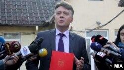 Изјава на градоначалникот на Град Скопје Петре Шилегов. Фото: Дарко Попов/МИА