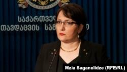 Тина Хидашели, Грузия қорғаныс министрі.