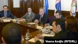 Pamje nga takimi me të ashtuquajturit kryetarë të katër komunave paralele të veriut
