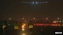 تصویری پس از آغاز به کار باند فرودگاه مهرآباد