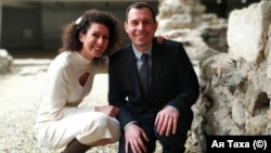 Д-р Ая Таха и д-р Сезен Хабилов на сватбения си ден през февруари 2020