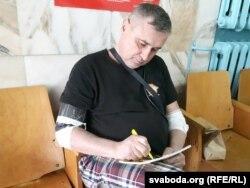 Павал Левінаў у віцебскім шпіталі 28 сакавіка 2017