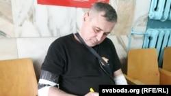 Павал Левінаў у віцебскім шпіталі, архіўнае фота