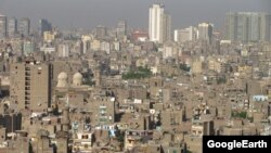 Вид на столицу Египта Каир.