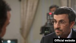 A photo posted by President Mahmud Ahmadinejad's website of the president in his recent televised interview.