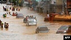 Fotografi arkivi nga vërshimet e mëparshme në Filipne, 27 shtator 2009