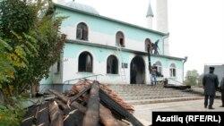 Мечеть в крымском городе Саки, которую пытались поджечь в понедельник