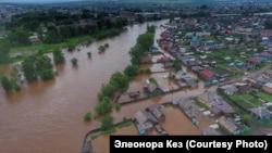 Наводнение в городе Нижнеудинск в Иркутской области