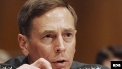 Army General David Petraeus, Commander of the US Central Command, testifying at the Senate Armed Services Committee in April 2009.