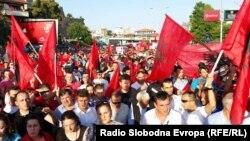 Архивска фотографија: Антивладин протест на албанското политичко движење Беса.