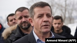 Former Kosovo Liberation Army commander Rrustem Mustafa leaves from Pristina for The Hague and an appearance before the Kosovo Specialist Chambers on January 13.