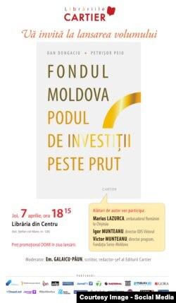 Afișul lansării de carte de la Chișinău