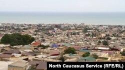 Вид на город Дербент, Дагестан (архивное фото)