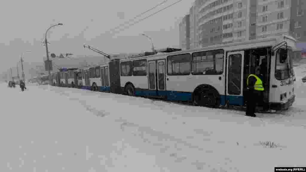 Belarus – snow fall. Minsk 15mar2013