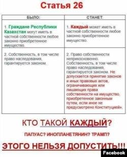 Иллюстрация из соцсетей о предлагаемых изменениях в Конституции.