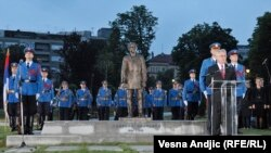 Hundreds of people attended the unveiling of the monument to Gavrilo Princip in Belgrade