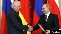 Леанід Цібілаў і Уладзімер Пуцін
