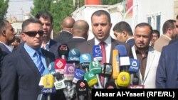 النجف 23 تشرين 1المؤتمر الصحفي لوزير الاسكان طارق الخيكاني