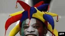 Болельщик на стадионе в Кейптауне